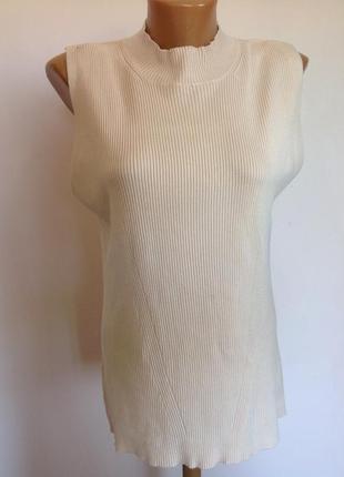Нюдовая базовая блуза- гольфик- резинка. /xl/ brend dept