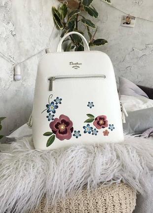 Рюкзак с вышивкой david jones 9101белый