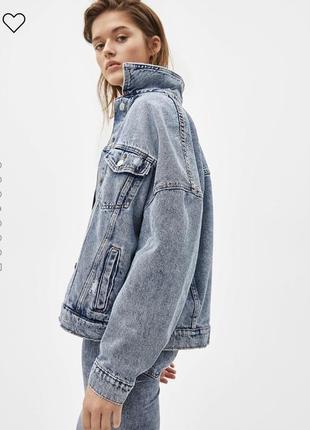 dc7a424eb50 Женские джинсовые куртки Bershka 2019 - купить недорого вещи в ...