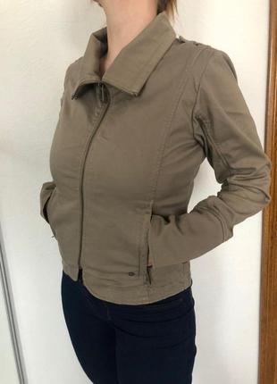 Куртка ветровка, коттон, пиджак на молнии, m-l