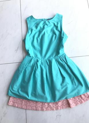 Нежное натуральное платье с кружевом