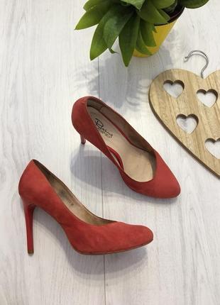 Замшевые туфли лодочки, яркие и удобные, 37-37,5