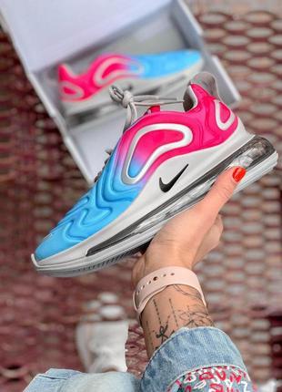 Шикарные женские кроссовки nike air max 720 pink/blue 😍 (весна/ лето/ осень)