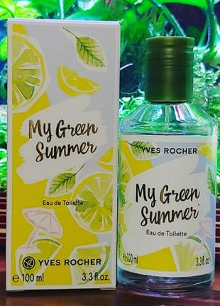 Встречайте новинку! туалетная вода my green summer yves rocher1 фото