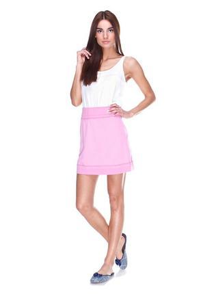 Трикотажная юбка трапеция s-м тм нue широкий эластичный пояс!