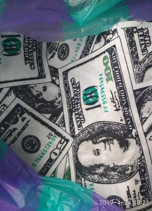 Комплект постельного белья бязь голд люкс 200х220 банкноты2 фото