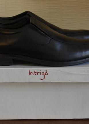 Туфли мужские кожаные intrigo 43р, на 28см.