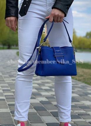 Клатч, сумка через плечо david jones 5943 синий