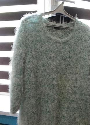 Бирюзовый свитер травка f&f