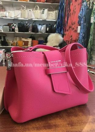 Клатч, сумка через плечо david jones 5943 розовый