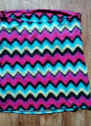 Цветной топ без бретелек3 фото