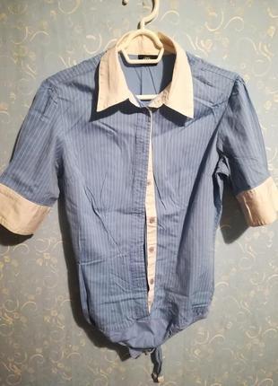 Классная рубашка-боди в полоску