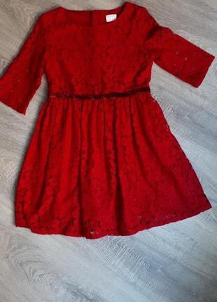 Нарядное платье для девочки на 6-7 лет