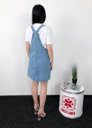 Джинсовый сарафан рваный низ винтаж оверсайз2 фото
