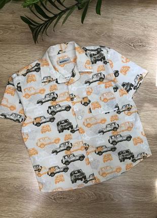 Хлопковая/коттоновая  рубашка 6 лет