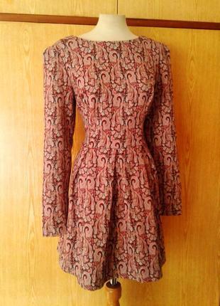 Жаккардовое платье бледно - розовое,  l.
