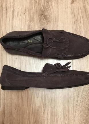 Шикарные мокасины-туфли bruno magli