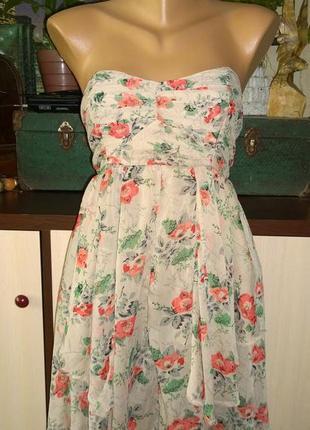 Платье с трендовым цветочным принтом asos1 фото