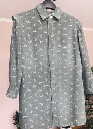 Хлопковая рубашка с зебрами 😊