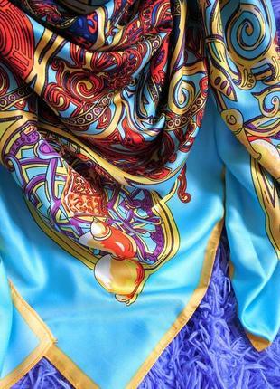 Очень красивый шёлковый платок2 фото
