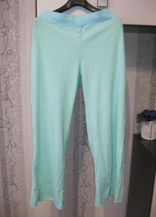 Новые домашние пижамные натуральные штаны брюки большой батал 18-20