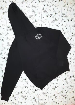 -50% на 2-ю единицу модная черная толстовка худи с утеплителем с капюшоном, размер 46 - 48
