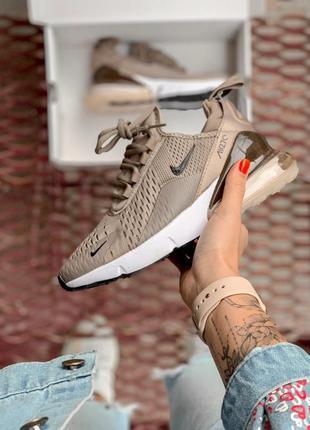 Шикарные женские кроссовки nike air max 270 brown