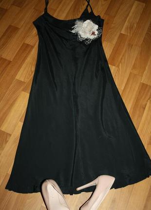 Ультрамодное вечернее коктейльное платье -комбинация из натурального шелка by groth