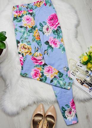 Небесные цветочные супер штаны чиносы