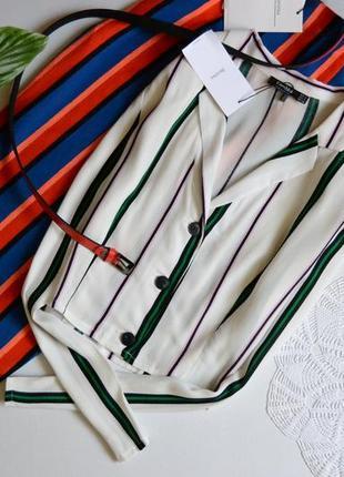 Bershka блуза в полоску трендова