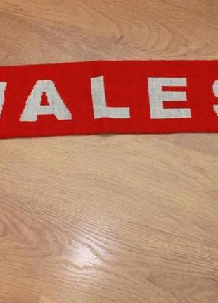 Футбольный шарф двухсторонний wales cymru