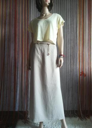 "Льняная юбка с накладными карманами от""sense mind spirit"". 100 %лён."