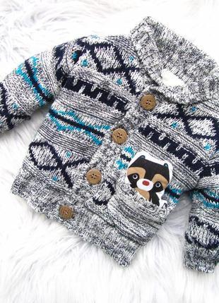 Стильная теплая кофта свитер реглан  с игрушкой nutmeg