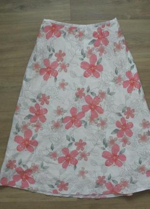 Льняная юбка george