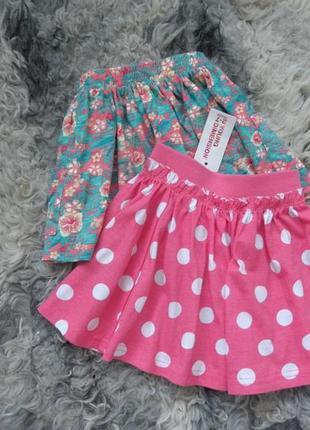 Горошковая хлопковая юбка primark