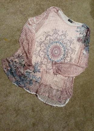 Нарядный блузон сетка azuri--14р