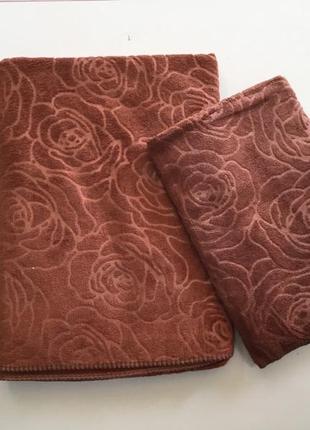 Комплект полотенец микрофибра 2шт.