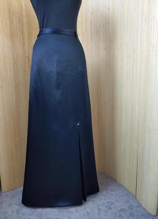Длинна чёрная нарядная юбка