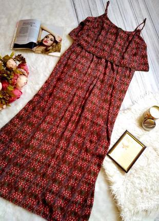 Шикарное платье длинное платье в королевский принт свободного кроя размер 20 (52-56)1 фото