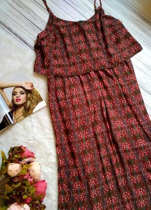 Шикарное платье длинное платье в королевский принт свободного кроя размер 20 (52-56)3 фото