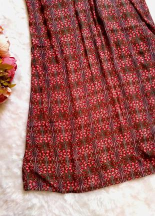 Шикарное платье длинное платье в королевский принт свободного кроя размер 20 (52-56)6 фото