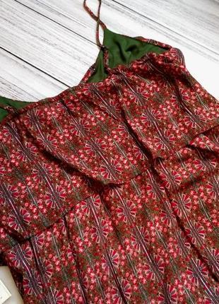 Шикарное платье длинное платье в королевский принт свободного кроя размер 20 (52-56)7 фото