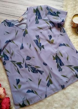 Шикарная блуза в цветы размер 20 (52-56)