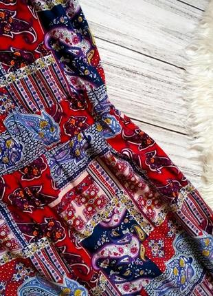 Шикарный натуральный комбинезон в королевский принт штаны колюты размер 20 (52-56)3 фото