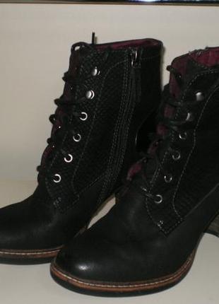 Кожаные ботинки  tamaris тамарис 39р