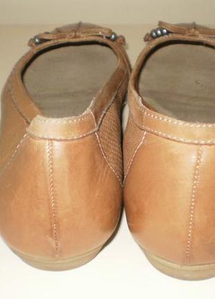 Кожаные балетки  tamaris (тамарис)40р5 фото