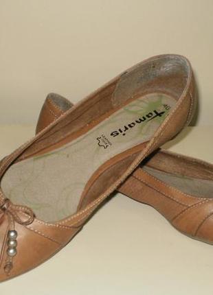 Кожаные балетки  tamaris (тамарис)40р7 фото