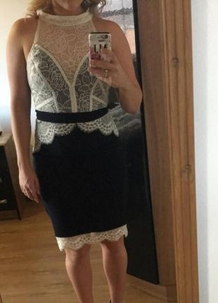 Ажурное элегантное платье lipsy m-l5 фото