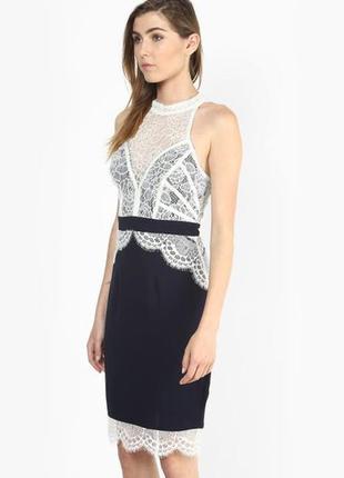 Ажурное элегантное платье lipsy m-l3 фото