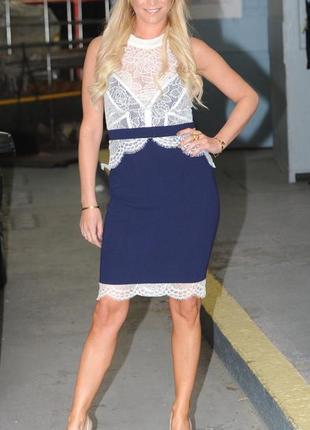 Ажурное элегантное платье lipsy m-l2 фото